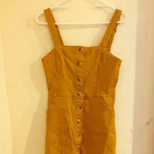Adorable yellow H&M Divided denim jumper dress